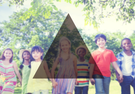 multi age: Summer Togetherness Friendship Triangle Copy Space Concept