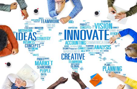 Innovatie Inspiratie Creativiteit Idee Progress Innovate Concept Stockfoto - 46772287
