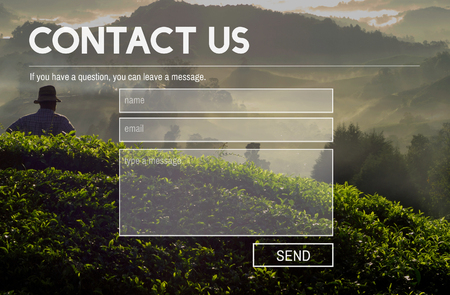 contact info: Contact Us Service Support Information Feedback Concept Stock Photo