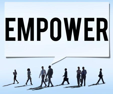 enhance: Empower Authority Permission Empowerment Enhance Concept