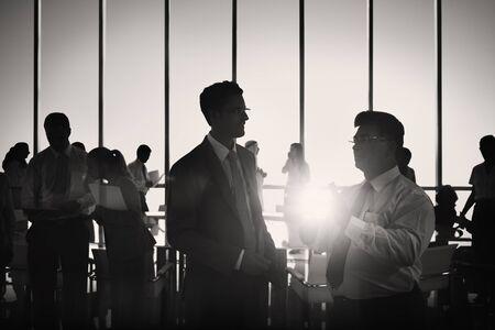 lider: Gente de negocios Reuni�n de Discusi�n Comunicaci�n Concepto