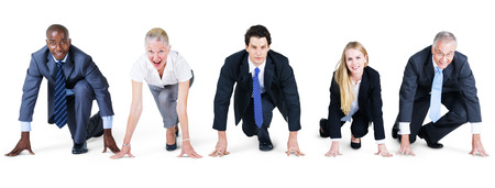 Business People Challenge Competition Startup Concept Stock Photo