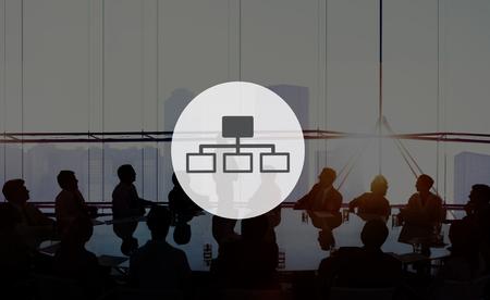 jerarqu�a: Organization Chart Business People Hierarchy Concept Foto de archivo