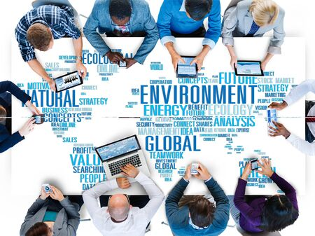 environmental conversation: Environment Natural Sustainability Global World Map Concept Stock Photo