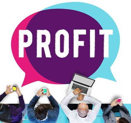 gain: Profit Gain Financial Revenue Income Concept
