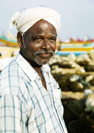 pobreza: Pescador indio Kerala India pobreza Concepto estilo de vida
