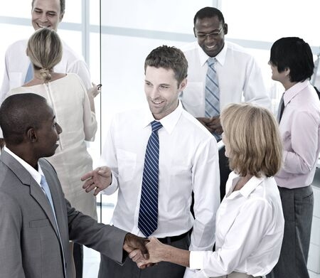 social grace: Group of Business People Meeting in the Office