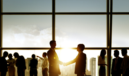 commitment: Businessmen Handshake Deal Business Commitment Concept Stock Photo