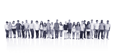 abreast: Abreast Ethnicity Diversity Teamwork Togetherness Concept Stock Photo