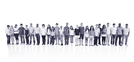 etnia: Abreast Ethnicity Diversity Teamwork Togetherness Concept Foto de archivo