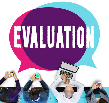 commenting: Evaluation Consideration Analysis Criticize Analytic Concept Stock Photo