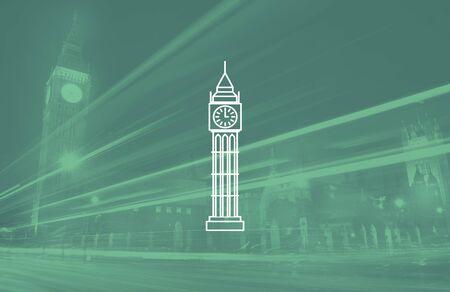 london big ben: London Big Ben England Culture Tourism Monument Concept