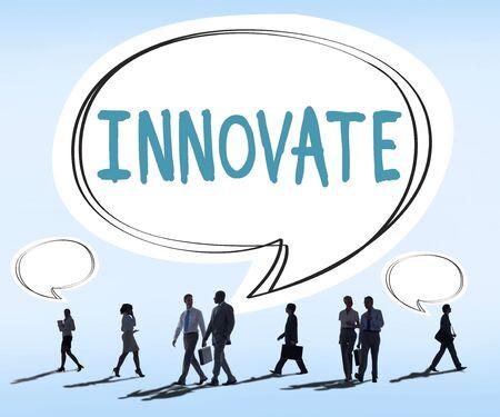 innoveren: Innovate Innovation Ideas Inspiration Invention Concept Stockfoto