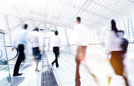 Business Rush Hour Commuter Office Walking Concept Stock Photo