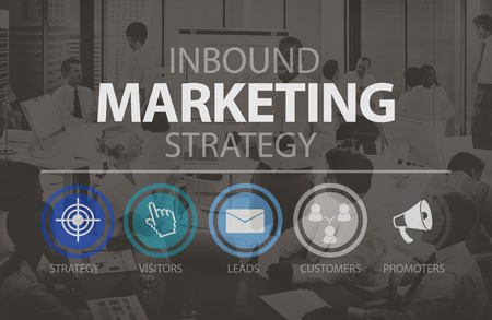 marketing target: Inbound Marketingn Marketing Strategy Commerce Online Concept Stock Photo