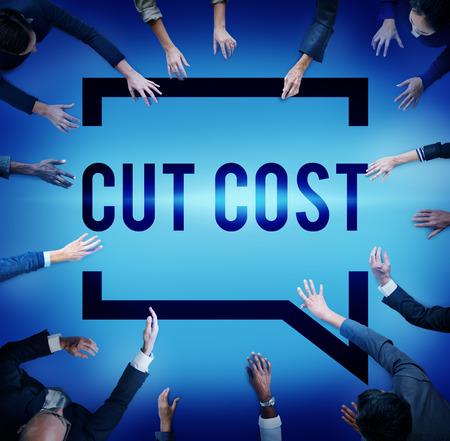 deficit: Cut Cost Reduce Recession Deficit Economy FInance Concept