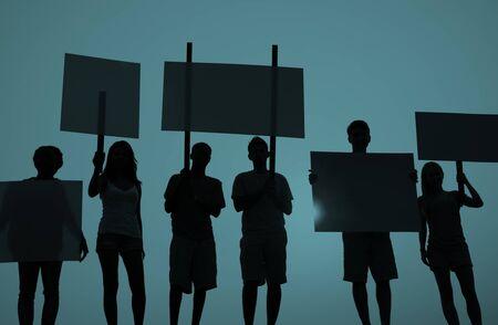 conflictos sociales: Protesta Concepto Unidad Grupo Multitud Personas Comunicaci�n Foto de archivo