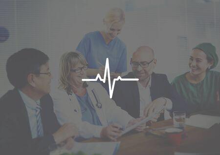 healthcare worker: Doctor Meeting Corporate Healthcare Heartbeat Pulse Concept