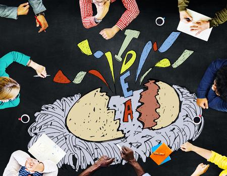disclose: Creativity Idea Imagination Reveal Surprise Concept