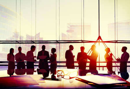 global thinking: Business People Meeting Discussion Corporate Team Concept Stock Photo