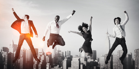 Business People Success Achievement City Concept Stok Fotoğraf