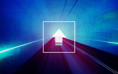 crecimiento: Sube Concepto del éxito del crecimiento de redes Tecnología de Internet
