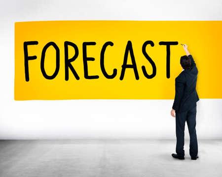 predictable: Forecast Prediction Precision Probability Future Concept Stock Photo