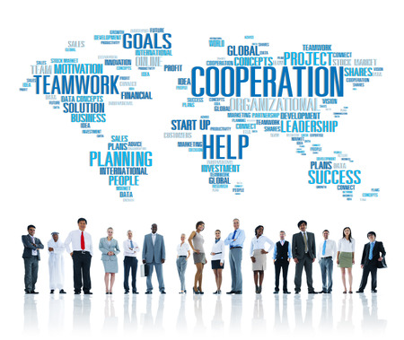 teamwork: Coorperation Business Coworker Planning Teamwork Concept