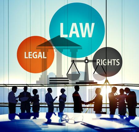 法律法的権利判断判断罰司法の概念 写真素材