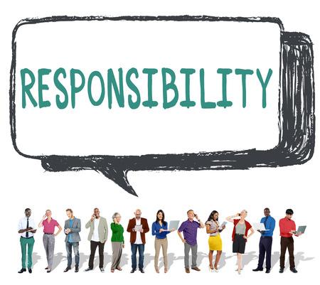 obligation: Responsibility Duty Obligation Job Trustworthy Concept