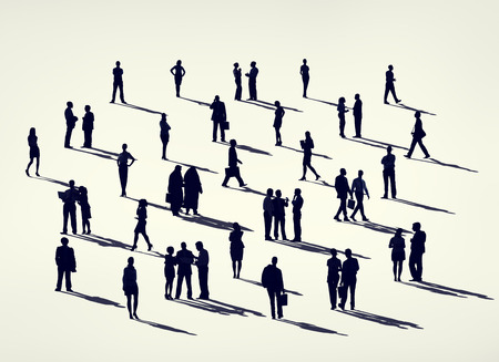 grupos de personas: Business Corporate People Silhouette Concept