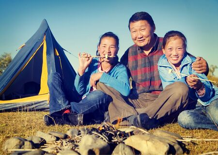 asian culture: Asian Family Ethnicity Culture Enjoyment Independent Concept Stock Photo