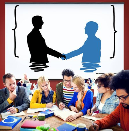 companionship: Handshake Greeting Corporate Deal Collaboration Concept