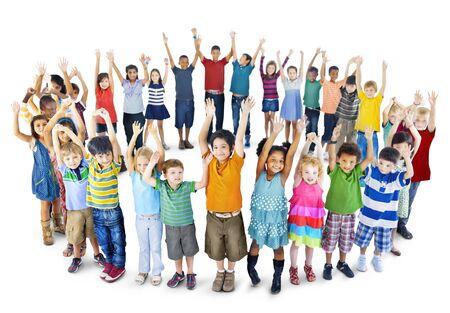 Diversidad niños Felicidad Inocencia Niñez Amistad Concept