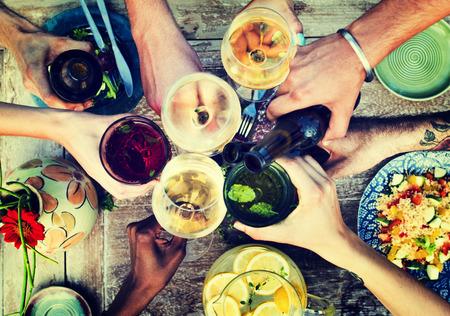 food concept: Food Beverage Party Meal Drink Concept