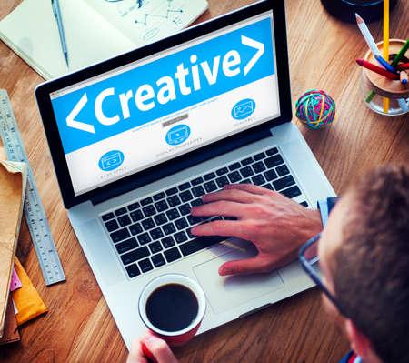 online: Digital Online Creative Development Innovation Office Working Concept