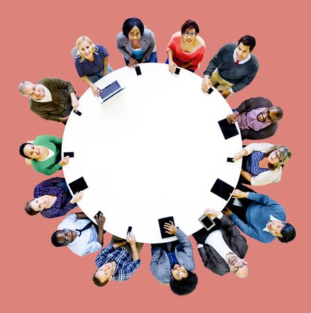 community people: Diverse People Friends Digital Device Technology Concept