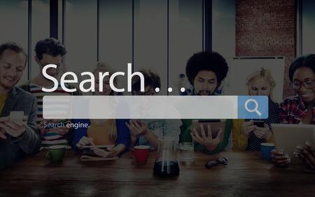 Recherche en ligne Seo navigation Internet Web Concept Banque d'images - 46774238