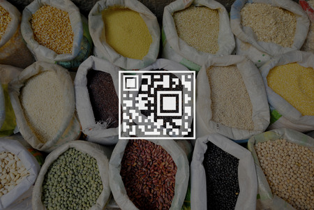 quick response code: QR Code Price Tag Coding Encryption Label Merchandise Concept
