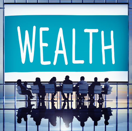 affluence: Wealth Financial Growth Income Economy Concept Stock Photo