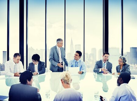 collaboration: Business People Meeting Discussion Corporate Concept Stock Photo