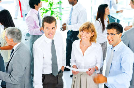 young business people: Business People Corporate Communication Office Team Concept Stock Photo