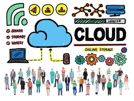 internet safety: Cloud Computing Network Storage Online Concept