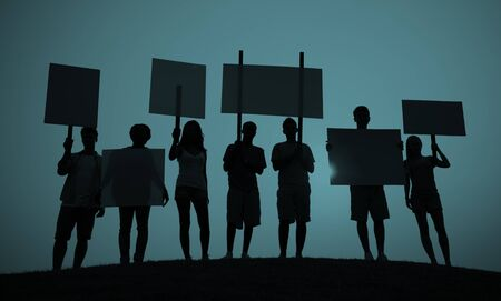 conflictos sociales: Protest Group Unity Crowd People Communication Concept