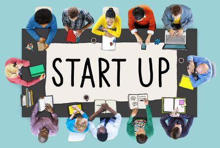 asian business team: Start up Business Opportunity Development Success Concept Stock Photo