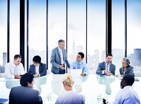 Business People Meeting Discussion Corporate Concept Foto de archivo