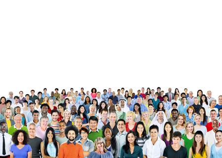 menschenmenge: Ethnicity ethnisch Zusammenhalt Konzept