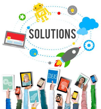 solution: Solution Innovation Solving Progress Strategy Plan Concept Stock Photo
