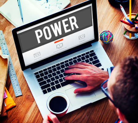 power concept: Power Potential Competence Competency Energy Concept