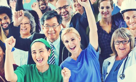 diversidad: Celebrando Gente Diversos diversas ocupaciones Concepto